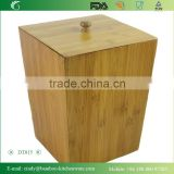 Formbu Household Bamboo Material Waste Bin with Lid