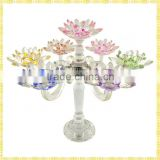 Handmade Exquisite Tall Crystal Candelabra votive Candle Holders For Wedding Party Centerpiece Decoration