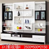 2015 New arrival modern diy glass tv wall units