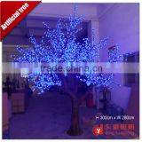 3M High simulation led artificial cherry blossom tree with blue for decoration