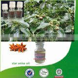 100% Natural & pure bulk anise oil with high quality, star anise oil, Chinese star anise oil