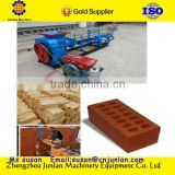 New year promation selling small production line clay mud interlocking brick making machine price