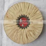 Abrasive 100% cotton cloth polishing wheel for metal, tableware and stainless steel surface to be mirror finish cotton wheel