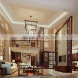 BISINI New Chinese Style Interior Wood Living Room Design