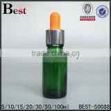 cosmetic packaging promorion orange dropper bottle glass cost price essential oil green glass dropper bottle best sellers