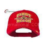 Red FIRST RECON Embroidered Military Baseball Hats with Velcro