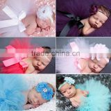 New coming Mint Girl Baby Party Dresses Baby Tutu Dress with Flower Headband Infant headband Baby Girl Set Photo