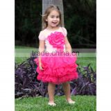 Boutique dance tutu chiffon skirts hot pink tulle tutu ballet gown little girl fluffy pettiskirt
