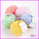Top quality hand knitting yarn 100% superfine merino wool yarn for baby