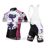 Cat designs Short Sleeve Cycling Jersey Bike Wear Breathable Bicycle Clothing Cycling Clothes Women