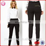 New Fashion Black Ladies Formal Wear Baggy Pants Formal Trousers For Women