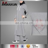 2017 newest sportswear women embroidery design ladies tracksuit cotton women suits
