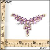 wholesale cheap vintage colorful crystal metal rhinestone shoe buckle embellishment