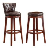 IVSY 7099 Solid Wood Bar Stool Home Bar Chair Hotel Furniture Restaurant Stool 21.5