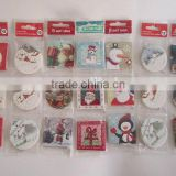 2016 hot selling Christmas decoration print paper christmas fancy gift hang tags with swing