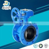 Size Double Flange Rubber Lined Butterfly Valve