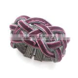 Fancy new design personalized women braided bracelet with magnetic clasp