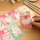 Heart , flower memo pad, Creative & fresh