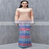 Wholesale muslim clothing islamic clothing lace baju kurung