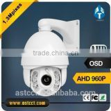 HD AHD 960P IR High Speed Dome PTZ Camera with Wiper IR range 150M Support IP66 AHD PTZ Controlled by Coaxial Cable