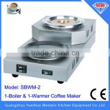 China manufacturer hot selling 1-boiler & 1-warmer electric coffee maker