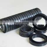 Excellent Quality Black Rubber Impact Idler Roller with Buffer Rings/Carrying Impact Roller