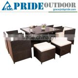 Classic Dining Table Set Wicker Garden Furniture Outdoor Cheap Wholesale Rattan Wicker Furniture