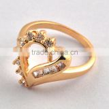 Gold Ring, Heart Brass Diamond Cz Gold Ring, Gold Rings Designs For Men & Women P6332