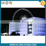 led portable cube tent inflatables /inflatable led cube / inflatable lighting cube tent