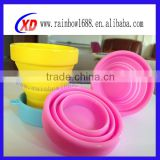 silicone collapsible travel cup/silicone collapsible cup/collapsible silicone cup/folding cup