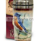Promotional double wall travel mugs