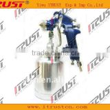 Blue color paint spray gun with bright cup