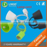 e27 textile power cord,textile lamp cord for led industrial high bay light,pendant light wire
