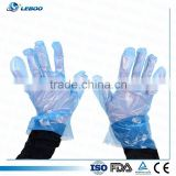 long sleeve 90cm disposable PE glove used in industrial with CE and ISO certificates