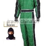 Professional The Green Check Go Kart Customized Karting Wear Racing Suit