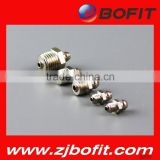 More than 90% exporting grease gun nipple brass bspt1/4-19 always good quality