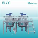 Alibaba China Supplier full automatic high shearing mixer heating emulsifying 500-5000L volume shampoo homogenizing tank