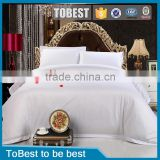 Factory wholesale hotel linen cotton fabric plain white bedding set / bed sheet / duvet cover sets