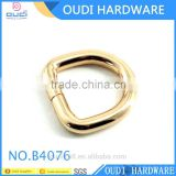 Gold Supplier Light Gold Metal D Ring Zinc Alloy Plated Dee Shape Bag Decoration Accessories