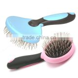 Pink Blue Pet Fur Hair Grooming Shedding Tool Dog Pet Cat Pins Brush Comb