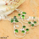 Hermosa Blessing Delicate Green Topaz Jewelry 925 Sterling Silver HOOP Earrings T217 Free Shipping
