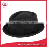 Stylish Wool Felt Porkpie Hat