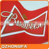 custom bar spill mat, bar runner, custom pvc rubber budweiser bar mat                                                                                                         Supplier's Choice