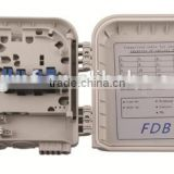 FDB wall mounted\pole mounted 8 cores waterproof fiber optic distribution box