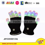 New product black/ white flashing fiber optic gloves party toy,hot sell magic flash glove,funny party toy with light