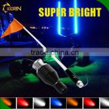 safety warning light with flag for offroad cars white,green,yellow,red,blue led safety lights