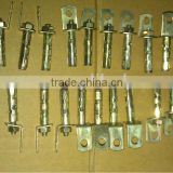 yellow zinc plated fence post metal anchors