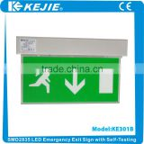 2016 High quality SMD2835 22PCS LED Emergency exit light with self-testing for European standard