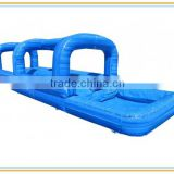 PVC tarpaulin water slide, blue customized inflatable water slide for swimming pool, inflatable slip and slide