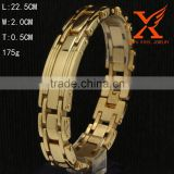 Mens Large Heavy Gold Link 20MM Stainless Steel Chain Cuff Bracelet                                                                         Quality Choice